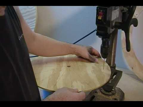 Building a Wind Turbine VAWT (Step 11 of 46) Drill location holes using #34 drill