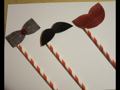 Tutorial: Make Photo Booth Props Using We R Memory Keepers Alphabet Punch Board