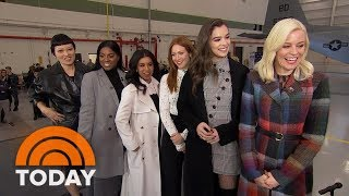 Stars Of pitch Perfect 3 On Their Final Appearance Celebrate Us Troops With Al Roker Today