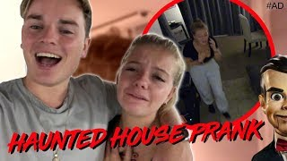 HAUNTED HOUSE PRANK ON LITTLE SISTER!