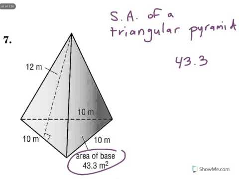 Surface Area of a Triangular Pyramid