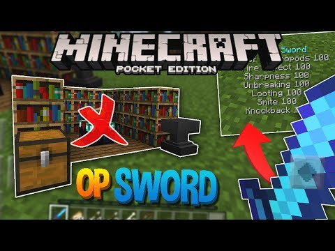 HOW TO GET THE MOST OP WEAPON IN MCPE!! (Overpowered Enchanting)