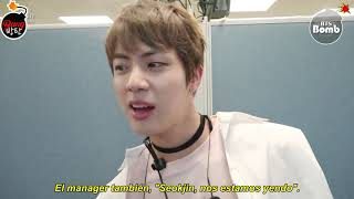 [Sub Español] [BANGTAN BOMB] Jin's chatter time Mcountdown comeback stage of 'Spring Day' - BTS