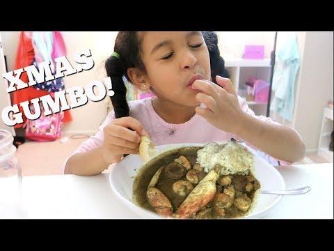 EATING CHRISTMAS GUMBO!!!! MUKBANG Eating Show