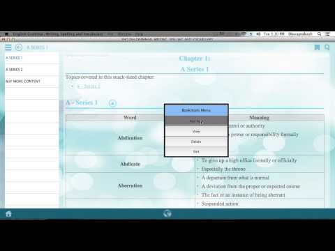 Demo of Learn English Grammer, Writting, Spelling and Vocabulary on Mac Desktop