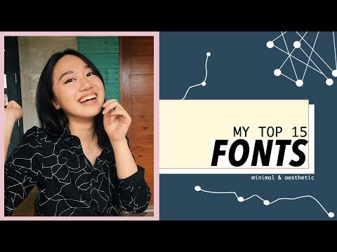 Best FREE Fonts (Aesthetic, Clean, Minimal)