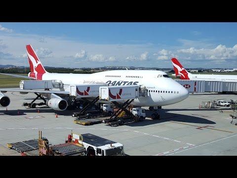 FLYING BRISBANE AUSTRALIA TO LOS ANGELES  CALIFORNIA