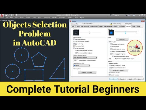 Object Shift Selection in Autocad | Autocad Basic Information #10 || CAD CAREER