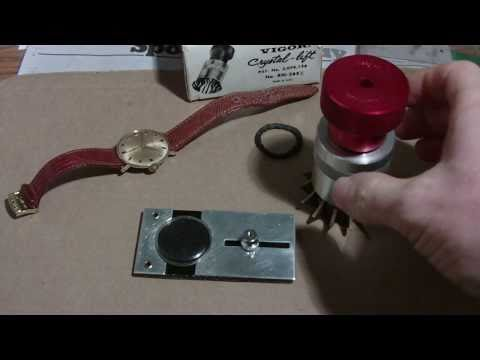 How I install a Bulova watch crystal with a crystal lift tool, part 2.