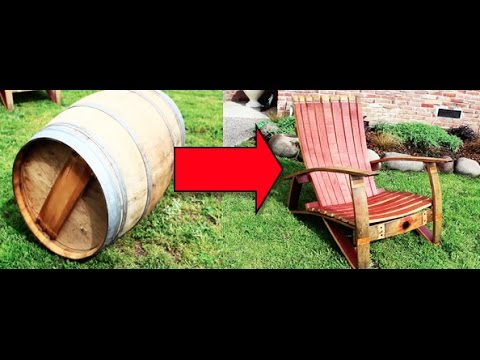 // Make a Chair out of a Wine Barrel //