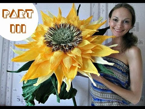 Free Standing Giant Flower | My giant sunflower. Part 3