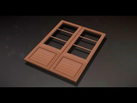 Wooden door 3d max