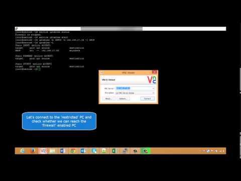 Configure iptables on linux