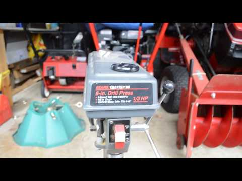 Equipment Review - Sears / Craftsman Drill Press with Demonstration
