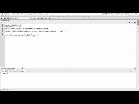 39. Formatting floating point numbers as currency values - Learn Python