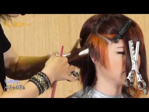How to cut asymmetrical pixie bob haircut with curly bangs?Design by Cherry,短髮鮑伯 Vern Hairstyles 03