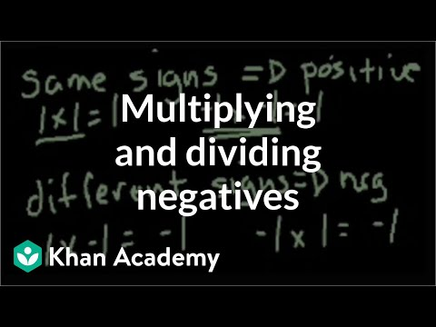 Multiplying and dividing negative numbers | Pre-Algebra | Khan Academy