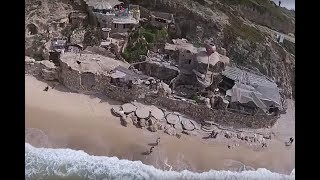 A Drone Flew Over Israel's Coast And Captured An Incredible Hobbit Home Carved Into A Cliffside
