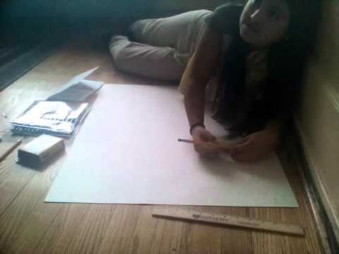 Making a Wanted Poster Part 1 (Drawing in pencil)