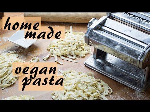VEGAN PASTA FROM SCRATCH - How to make vegan pasta, no egg, home made
