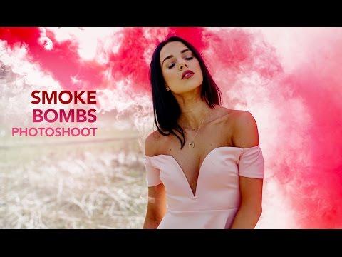 Smoke Bombs Natural Light Photoshoot - 50mm 1.4