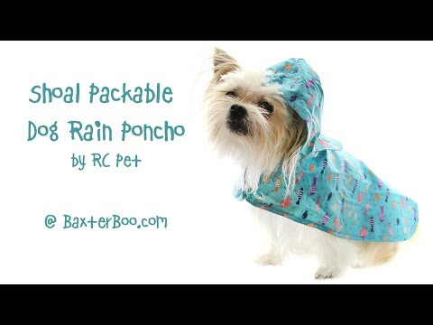 Shoal Packable Dog Rain Poncho