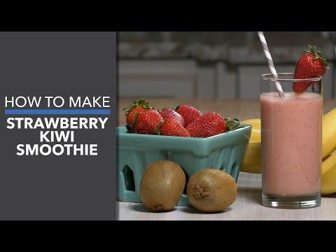 How to Make a Strawberry Kiwi Smoothie