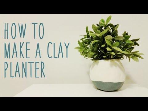 ♥ DIY Clay Planter ♥