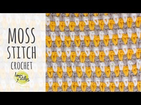 Tutorial Crochet Moss Stitch