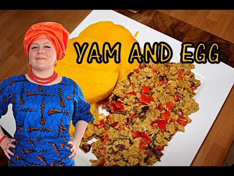 Oyinbo Cooking: Boiled Yam and Fried Egg! Typical Nigerian Breakfast - Delicious and Fulfilling!