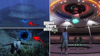 GTA 5 - What Is Inside the Underwater UFO? (Hidden Secret)