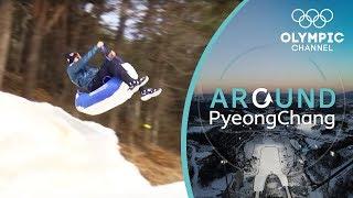 Luge Challenge vs. Chris Mazdzer | Around PyeongChang