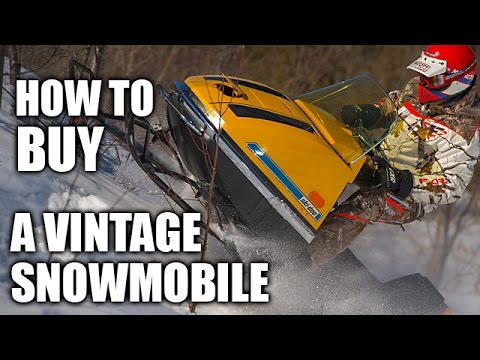 How to Buy a Vintage Snowmobile
