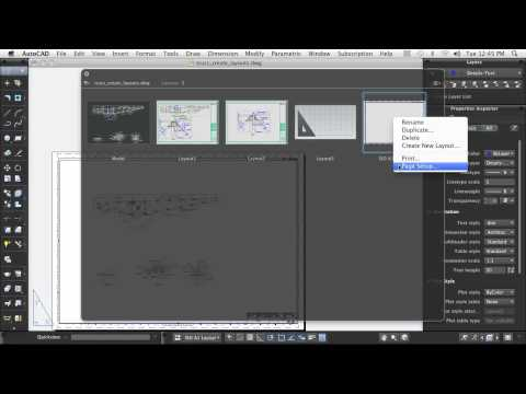 AutoCAD for Mac: Using Layouts