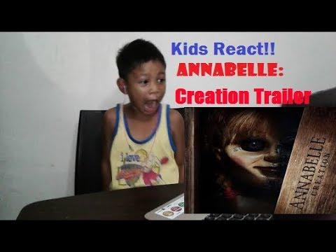 Kids React -  ANNABELLE: Creation Trailer