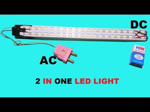 Haw to make 2 in one LED light AC+DC Homemade