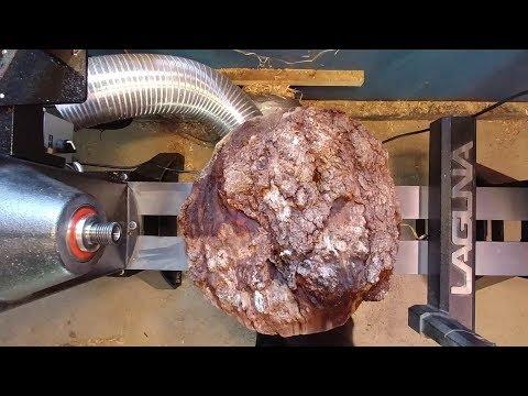 Woodturning Big Cherry Burl / Epoxy