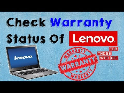 How to Check Warranty of Lenovo Laptop (Check Lenovo Laptop Warranty Status) - dB