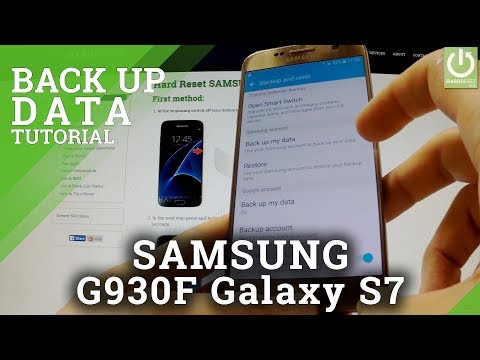 How to Back Up Data with a Samsung Account  - SAMSUNG G930F Galaxy S7 BackUp