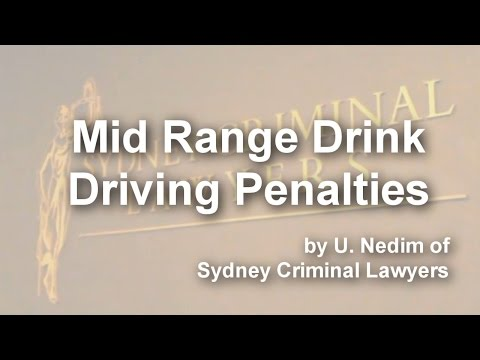 Mid Range Drink Driving Penalties