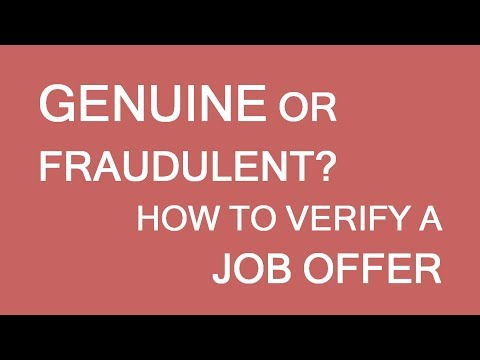 How to verify a job offer? Beware of immigration scam. LP Group Canada