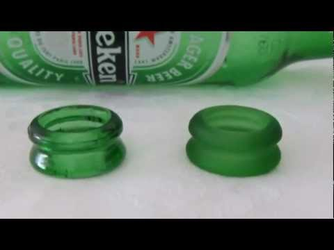 EARRINGS made out of a nozzle of a bottle (#1) - Recycled Glass Bottles Cutting Art