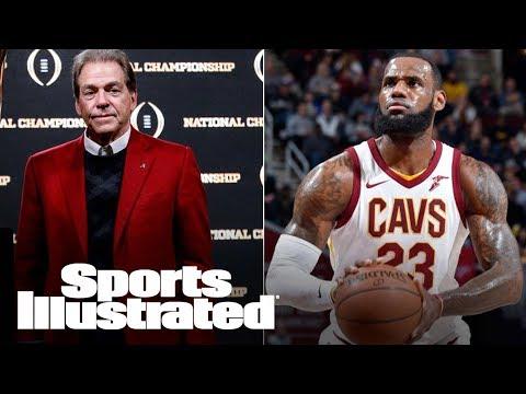 LeBron James Vs. Nick Saban: The Most Unlikely Barbershop Debate | SI NOW | Sports Illustrated