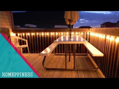 MUST WATCH !!! 30+ Stunning Deck Lighting Ideas - HOMEPPINESS