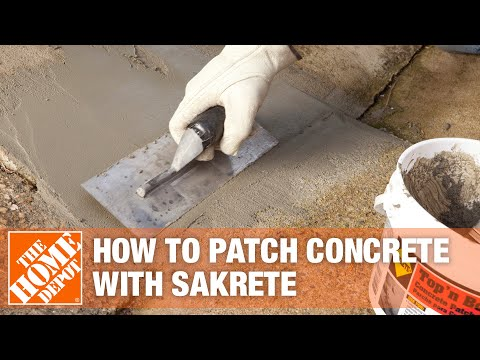 How to Patch Concrete with Sakrete Top n' Bond Concrete Patcher - The Home Depot