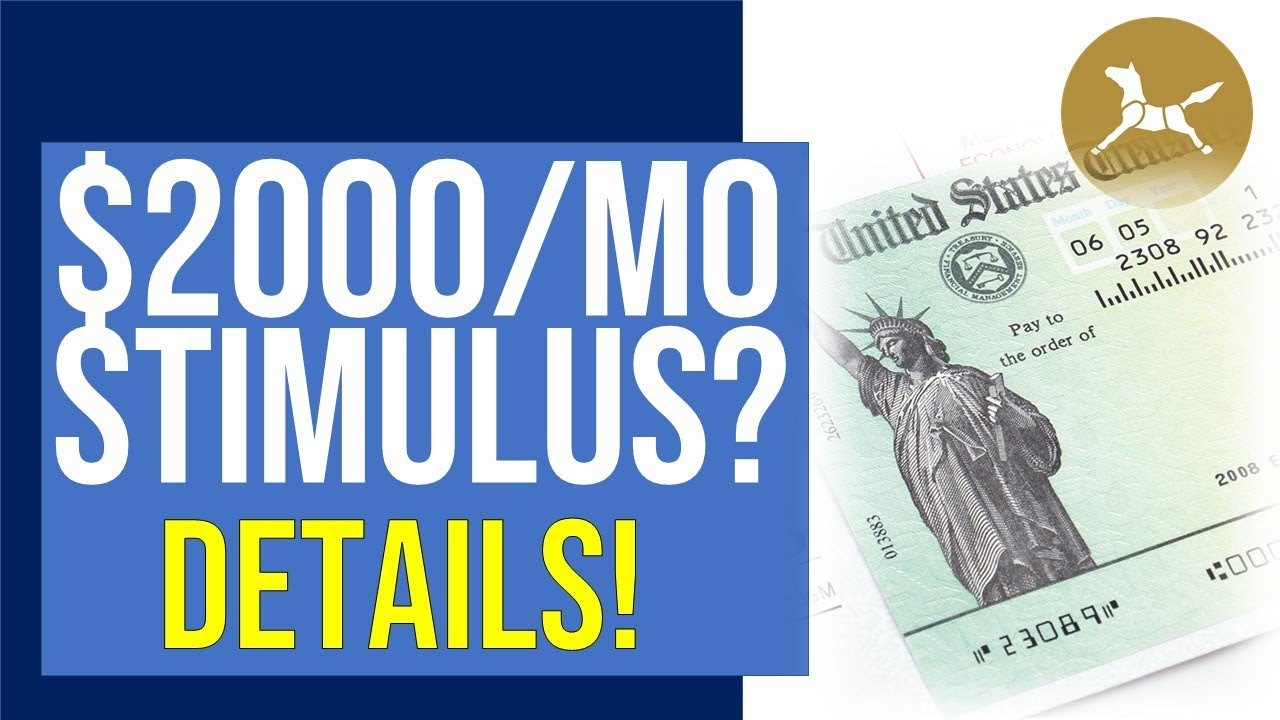$2,000 A MONTH stimulus proposal! Emergency Money for the People Act details
