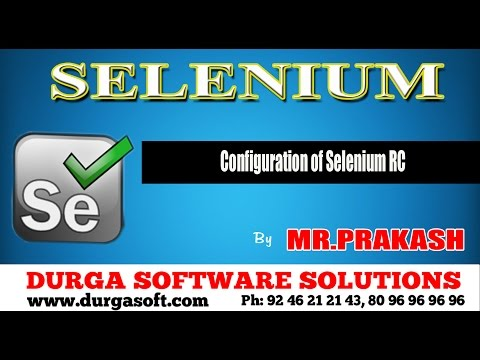Configuration of Selenium RC