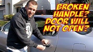 How to open car door if both handles dont work  Sample car