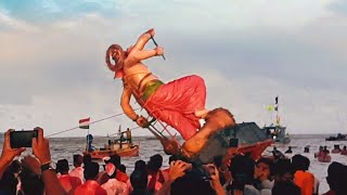 Mumbai ganpati visarjan 2019 Girgaon chowpatty | Exciting visarjan scenes you never seen before