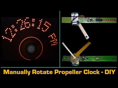 Propeller clock using 89C4051 and DS1307 - DIY Project